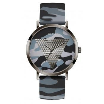 GUESS Ladies - W1161G3, Grey case with Grey Military Rubber Strap