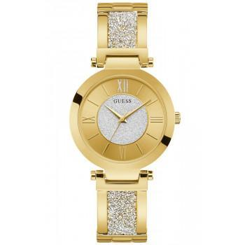 GUESS Ladies - W1288L2 , Gold case with Stainless Steel Bracelet