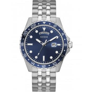 GUESS Men's Comet - GW0220G1 , Silver case with Stainless Steel Bracelet
