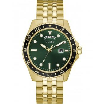 GUESS Men's Comet - GW0220G2 , Gold case with Stainless Steel Bracelet