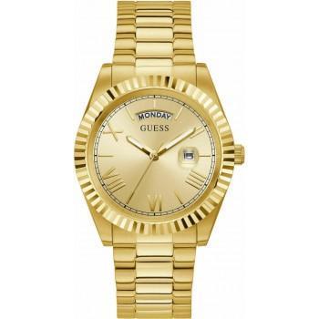 GUESS Men's Connoisseur - GW0265G2 , Gold case with Stainless Steel Bracelet