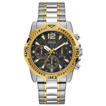 GUESS Men's Multifunction - GW0056G4 , Silver case with Stainless Steel Bracelet