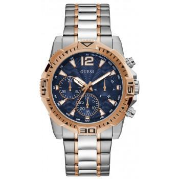 GUESS Men's Multifunction - GW0056G5 , Silver case with Stainless Steel Bracelet