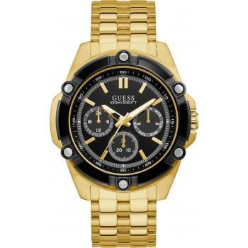 GUESS Men's Multifunction - GW0210G1 , Gold case with Stainless Steel Bracelet