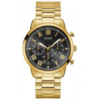 GUESS Men's Multifunction - W1309G2 , Gold case with Stainless Steel Bracelet