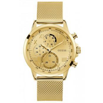GUESS Men's Multifunction - W1310G2 , Gold case with Stainless Steel Bracelet