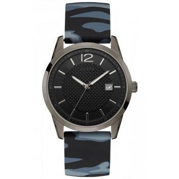 GUESS Mens  - W0991G6,  Grey case with Blue Rubber Strap