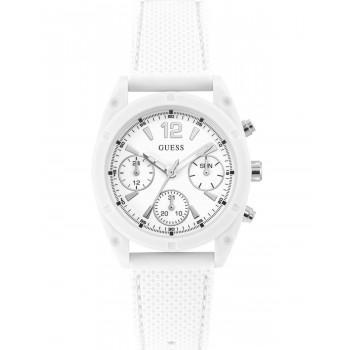 GUESS Multifunction Ladies - W1296L1,  White case with White Rubber Strap