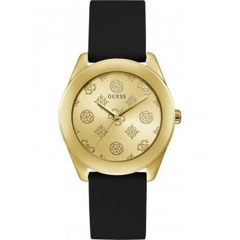 GUESS Peony G Ladies - GW0107L2,  Gold case with Black Rubber Strap