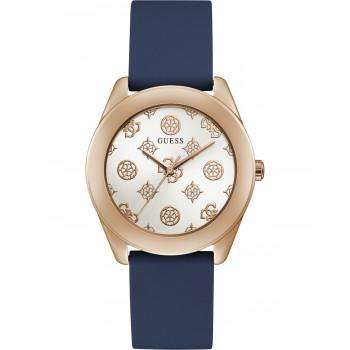 GUESS Peony G Ladies - GW0107L4, Rose Gold case with Blue Rubber Strap