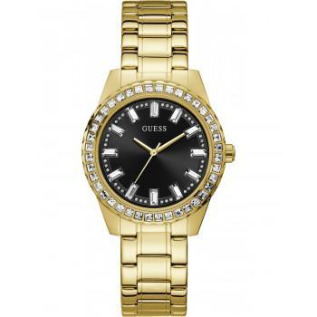 GUESS Sparkler Crystals - GW0111L2 , Gold case with Stainless Steel Bracelet