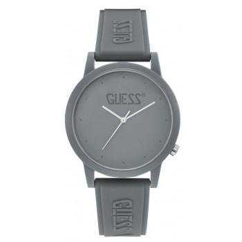 GUESS Unisex - V1040M3, Grey  case with Grey  Rubber Strap