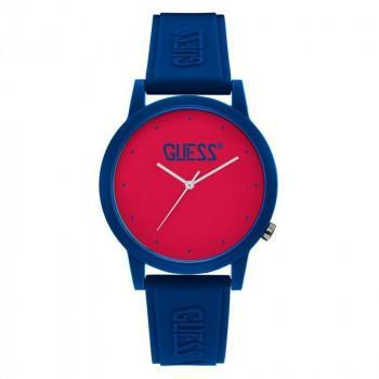 GUESS Unisex - V1040M4, Blue case with Blue Rubber Strap