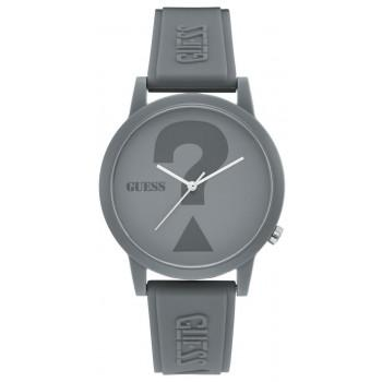 GUESS Unisex - V1041M3, Grey  case with Grey  Rubber Strap