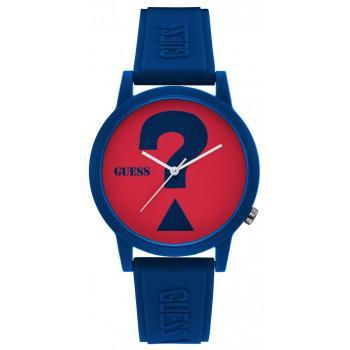 GUESS Unisex - V1041M4, Blue case with Blue Rubber Strap