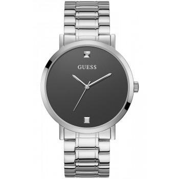 GUESS Unisex - W1315G1 , Silver case with Stainless Steel Bracelet