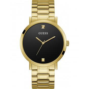 GUESS Unisex - W1315G2 , Gold case with Stainless Steel Bracelet