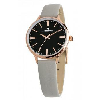 HOOPS Classic - 2609LRG01  Rose Gold case with Grey Leather Strap
