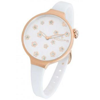 HOOPS Icon Flowers - 2562LF02 Rose Gold case, with White Rubber Strap