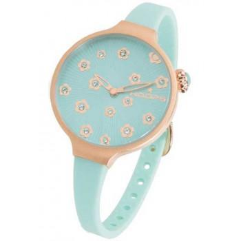 HOOPS Icon Flowers - 2562LF04 Rose Gold case, with Blue Rubber Strap