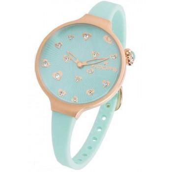 HOOPS Icon Hearts - 2562LL04 Rose Gold case, with Blue Rubber Strap