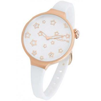 HOOPS Icon Stars - 2562LS02 Rose Gold case, with White Rubber Strap