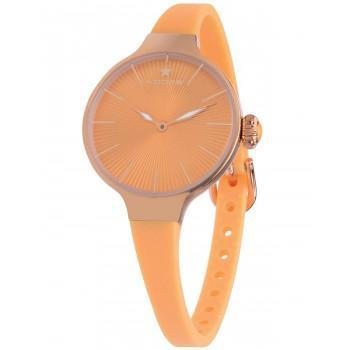 HOOPS Nouveau Cherie - 2583LRG06  Rose gold case  with Orange Rubber Strap