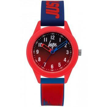 HYPE Kids - HYK011UR,  Red case with Red & Blue Rubber Strap