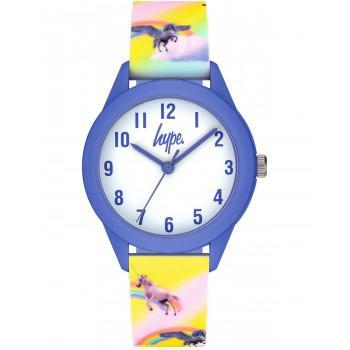 HYPE Kids - HYK015PV  Blue case with Multicolor Rubber Strap