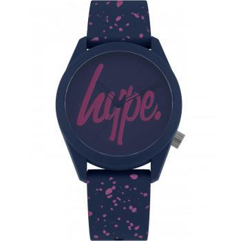 HYPE Ladies - HYL001UP,  Blue case with Blue Rubber Strap