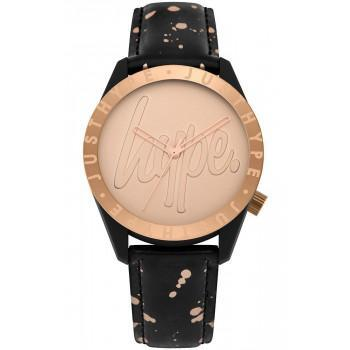 HYPE Ladies - HYL002BRG  Black case with Black Leather Strap