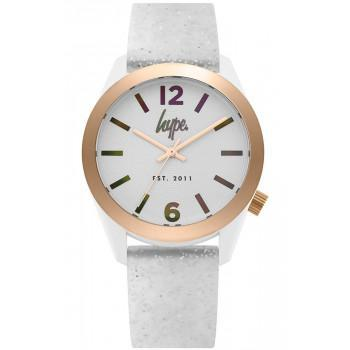 HYPE Ladies - HYL004S,  White case with White Rubber Strap