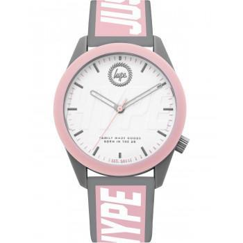 HYPE Ladies - HYL018PW  Grey case with Grey & Pink Rubber Strap