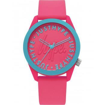 HYPE Ladies - HYL023P,  Pink case with Pink Rubber Strap