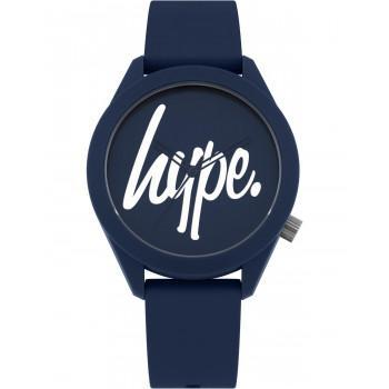 HYPE Unisex - HYG001U,  Blue case with Blue Rubber Strap