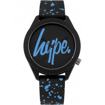 HYPE Unisex - HYG003BU,  Black case with Black Rubber Strap