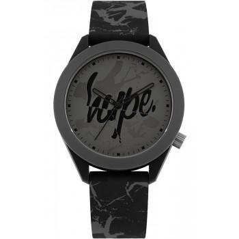 HYPE Unisex - HYG005B  Black case with Black Rubber Strap