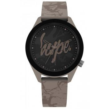 HYPE Unisex - HYG005BR  Grey case with Grey Rubber Strap