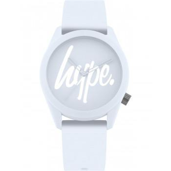 HYPE Unisex - HYL001U,  White case with White Rubber Strap