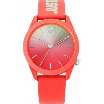 HYPE Unisex - HYL020ON,  Coral case with Coral  Rubber Strap