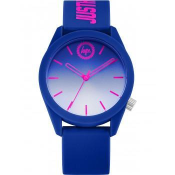 HYPE Unisex - HYU020UU,  Blue case with Blue  Rubber Strap