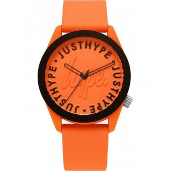 HYPE Unisex - HYU023O,  Orange case with Orange  Rubber Strap