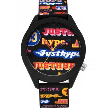 HYPE Unisex - HYU024B,  Black case with Black Multicolor Strap