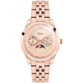 JCOU Celeste - JU18017-2, Rose Gold case with Stainless Steel Bracelet