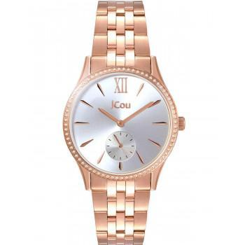 JCOU Cynthia Crystals - JU19035-5, Rose Gold case with Stainless Steel Bracelet
