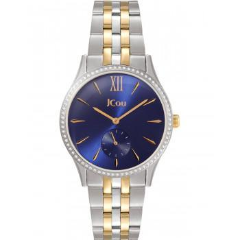 JCOU Estelle Crystals - JU19035-2, Silver case with Stainless Steel Bracelet