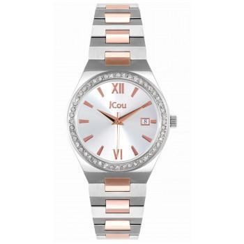 JCOU Esther - JU19050-1, Silver case with Stainless Steel Bracelet