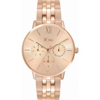 JCOU Felicity - JU19053-2, Rose Gold case with Stainless Steel Bracelet