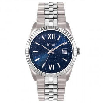 JCOU Queen's II - JU19038-8, Silver case with Stainless Steel Bracelet