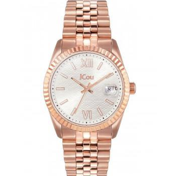 JCOU Queen's II - JU19038-4, Rose Gold case with Stainless Steel Bracelet